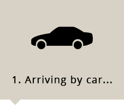 Arrive with own car